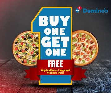 Buy One Pizza and Get One Pizza Free