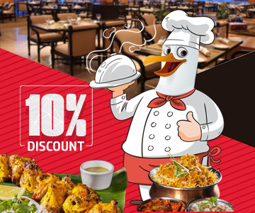 10 Percentage Discount on Food And Soft Beverage