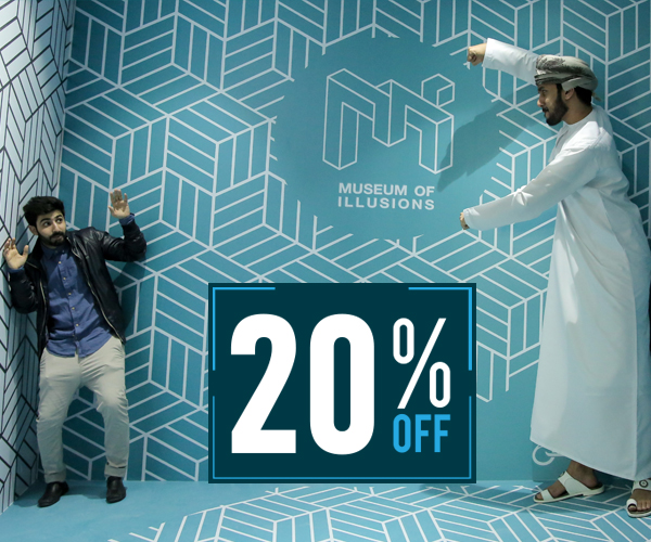 20 percentage discount on Museum of Illusions Tickets