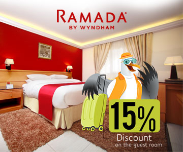 15 Percentage discount on on the guest rooms in Ramada Qurum Beach Hotel