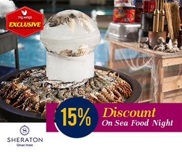 15 percentage discount on Sea Food Night